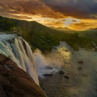 Athirappilly Waterfall Kerala by Shreyas