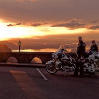 Cow Bikers & Sunset by GrahamWelland in GrahamWelland