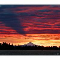 Mt Hood Sunset From Goldendale by GrahamWelland in Regular Member Gallery