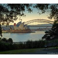 Opera-house-and-bridge-sunset-hf-4s---1k-framed by GrahamWelland in Regular Member Gallery