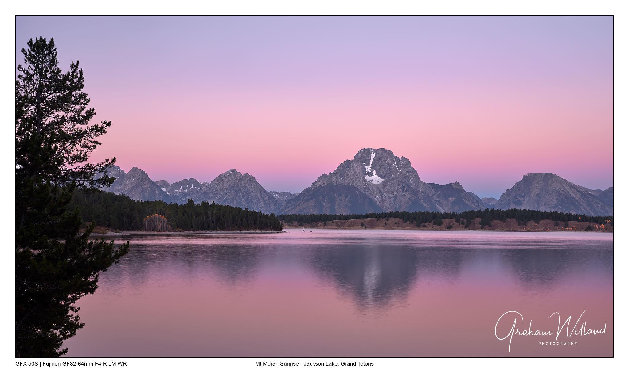 Mt Moran over Jackson Lake Sunrise by GrahamWelland in GrahamWelland