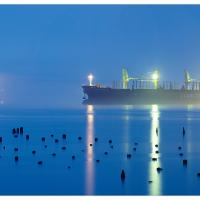 Astoria-misty-evening-ii-3k-framed by GrahamWelland in GrahamWelland