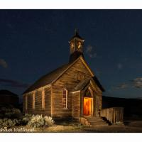 Bodie Night Shot - Church With Star Points by GrahamWelland in Regular Member Gallery