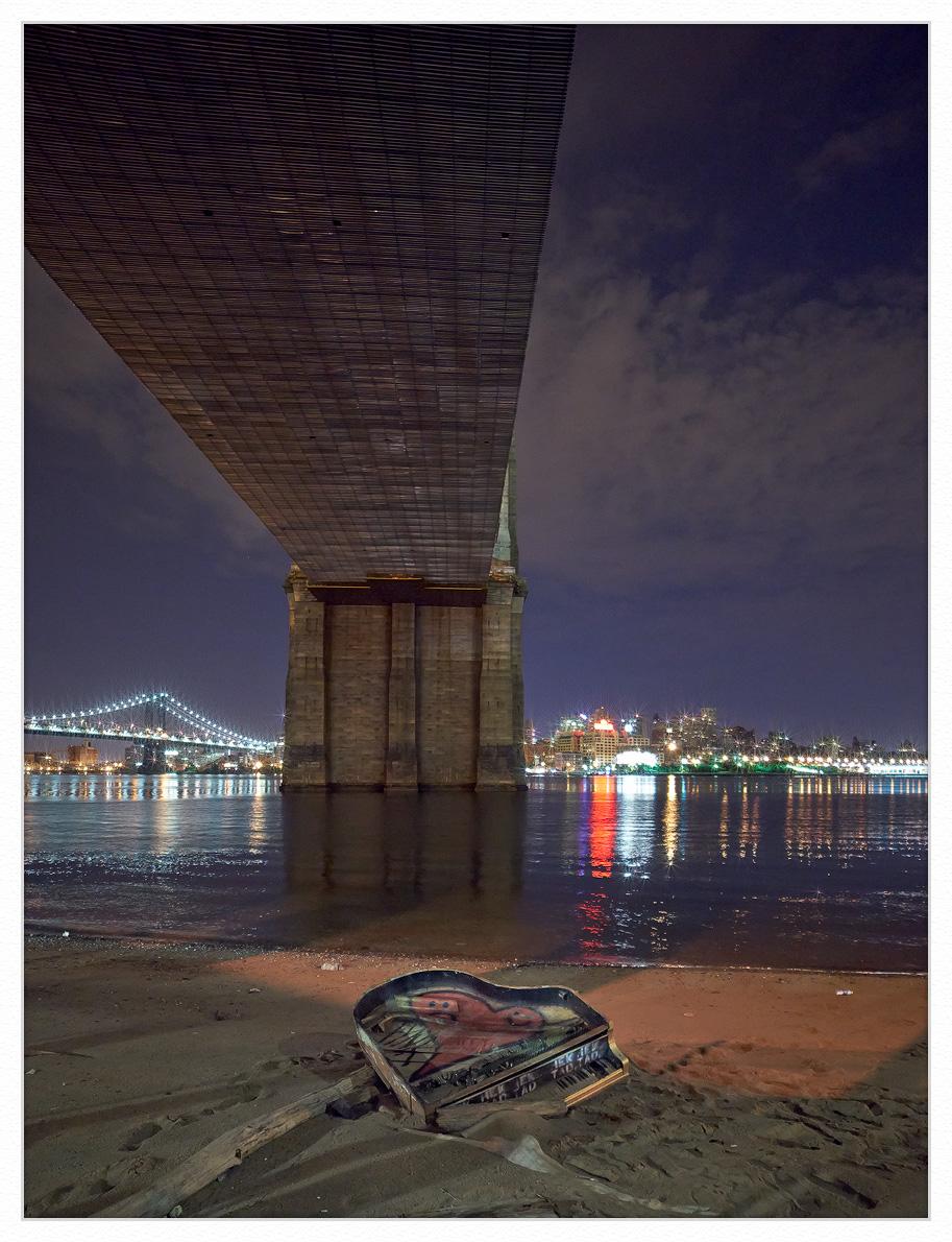 Brooklyn-bridge-piano-framed by GrahamWelland in GrahamWelland