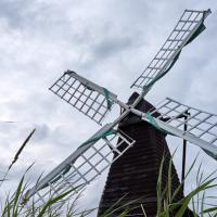 Windmill And Flying Friend by GrahamWelland