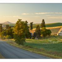 Hilty-road-sunset-with-beams by GrahamWelland