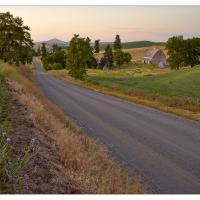 Hilty-road-sunset by GrahamWelland in GrahamWelland