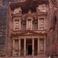 Petra Treasury with Camel #11 by GrahamWelland in GrahamWelland