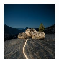Light Crack And Rocks At Olmsted Point by GrahamWelland