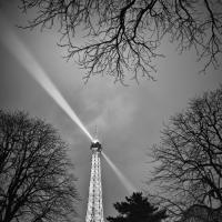 Paris Night Eiffel Tower Bw by GrahamWelland in Regular Member Gallery