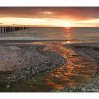 Point Roberts Sunset Over Tsawassen by GrahamWelland