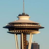 Seattle Space Needle & Floating Mt Rainier by GrahamWelland in Regular Member Gallery