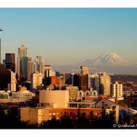 Seattle Space Needle & Floating Mt Rainier by GrahamWelland in Regular Member Gallery