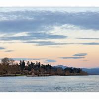 Steamboat Landing April Evening by GrahamWelland