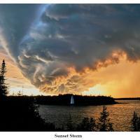 sunset storm by Bill Caulfeild-Browne in Regular Member Gallery