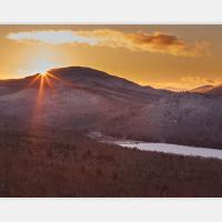 Winter Sunset Over 13th Lake In Ny's Adirondacks by WWLEE in Regular Member Gallery