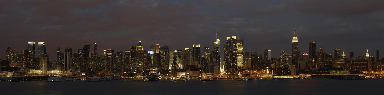 New York City Sunset Panorama by WWLEE in Regular Member Gallery