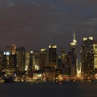 New York City Sunset Panorama by WWLEE