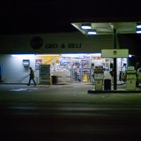 Leaving the One Stop, 6am by johnastovall