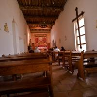 Worshippers at Mission San Juan by johnastovall in johnastovall