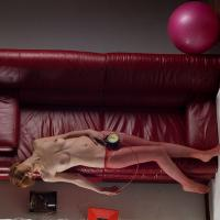 girl on a leather sofa by irakly in Regular Member Gallery