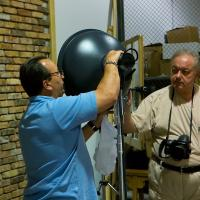 Guy And Robert Messing With Lights by etrigan63 in Regular Member Gallery