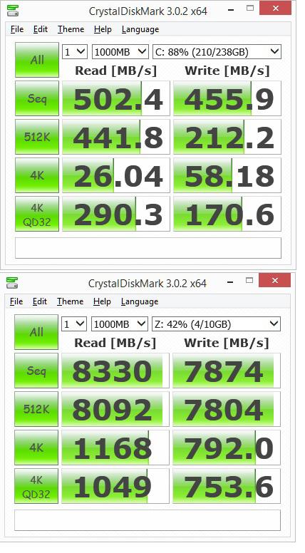 crystaldisk compare by GlenC in Regular Member Gallery