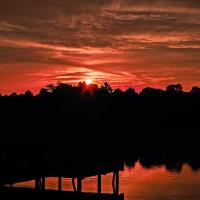 Red Dawn at the Lake by dave.gt in dave.gt