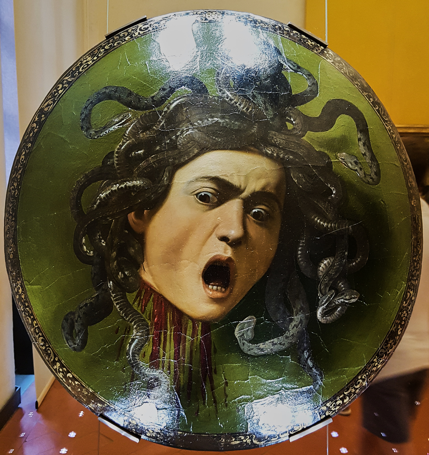 Medusa by Carravaggio 1597 by Thorkil in Thorkil
