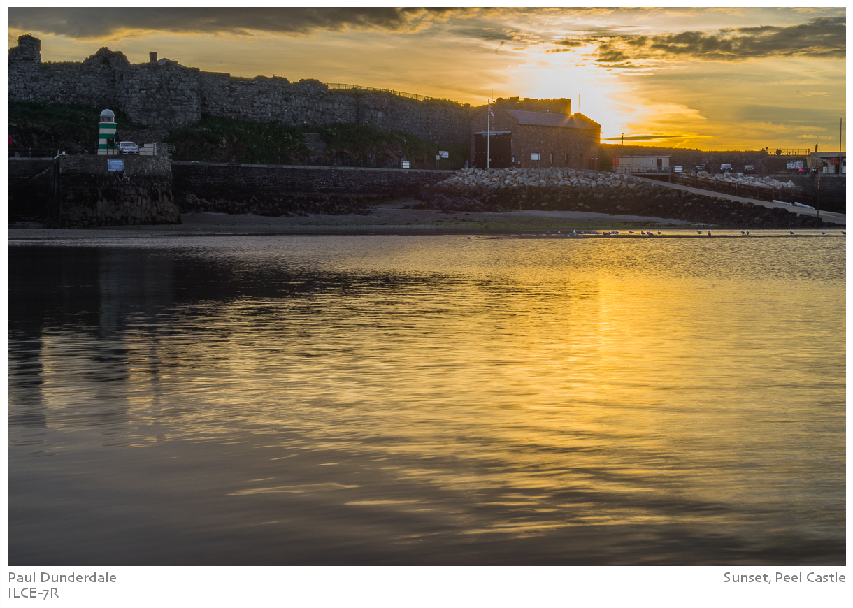 Sunset, Peel Castle