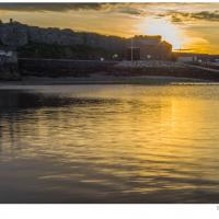 Sunset, Peel Castle by dunders in dunders