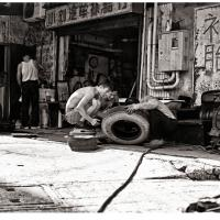 Fixing Tires In Shanghai