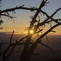 sunset from campsite at 6,500 ft by Shac in Regular Member Gallery