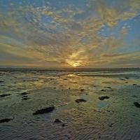 Dublin Bay Winter Sunset Low Tide by Nutcracker in Regular Member Gallery
