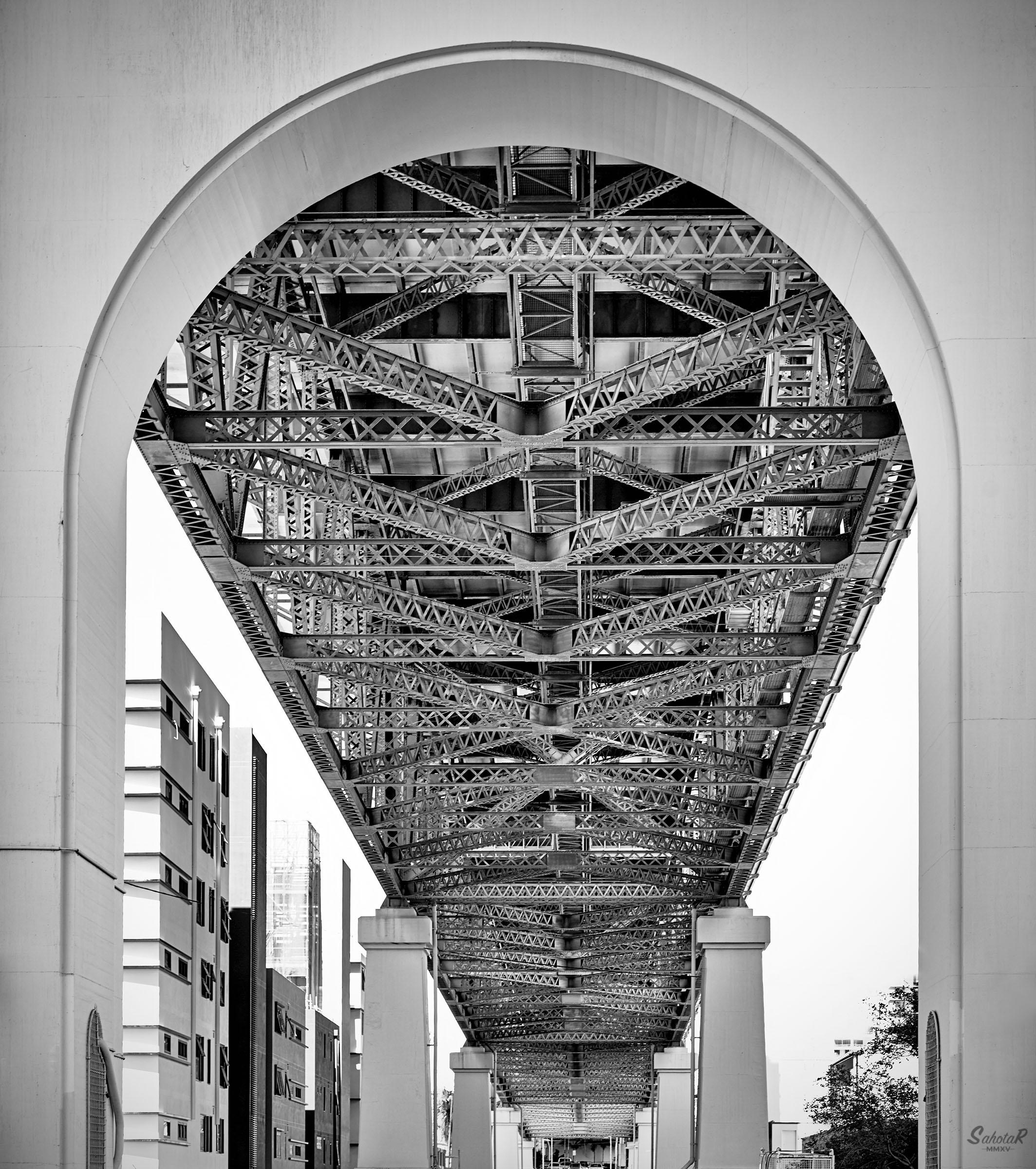 Underbelly of Story Bridge, Brisbane, Aus. by SahotaR in Regular Member Gallery