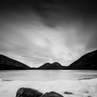 jordan pond ice study 5 by dwood