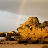 Oura Beach Pot Of Gold by DonWeston in DonWeston