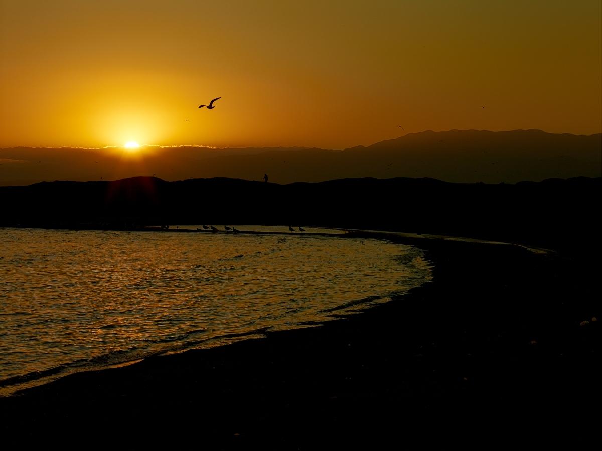 Bombay Beach Sunset by Bob in 2010-02 Salton Sea