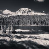 Mt Rainier From Reflecting Lakes by Bob