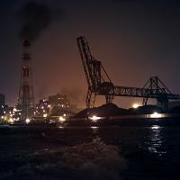 Jr Powerplant, Yokohama Harbor, At Night by Bob in  Instructor Gallery (click to expand)