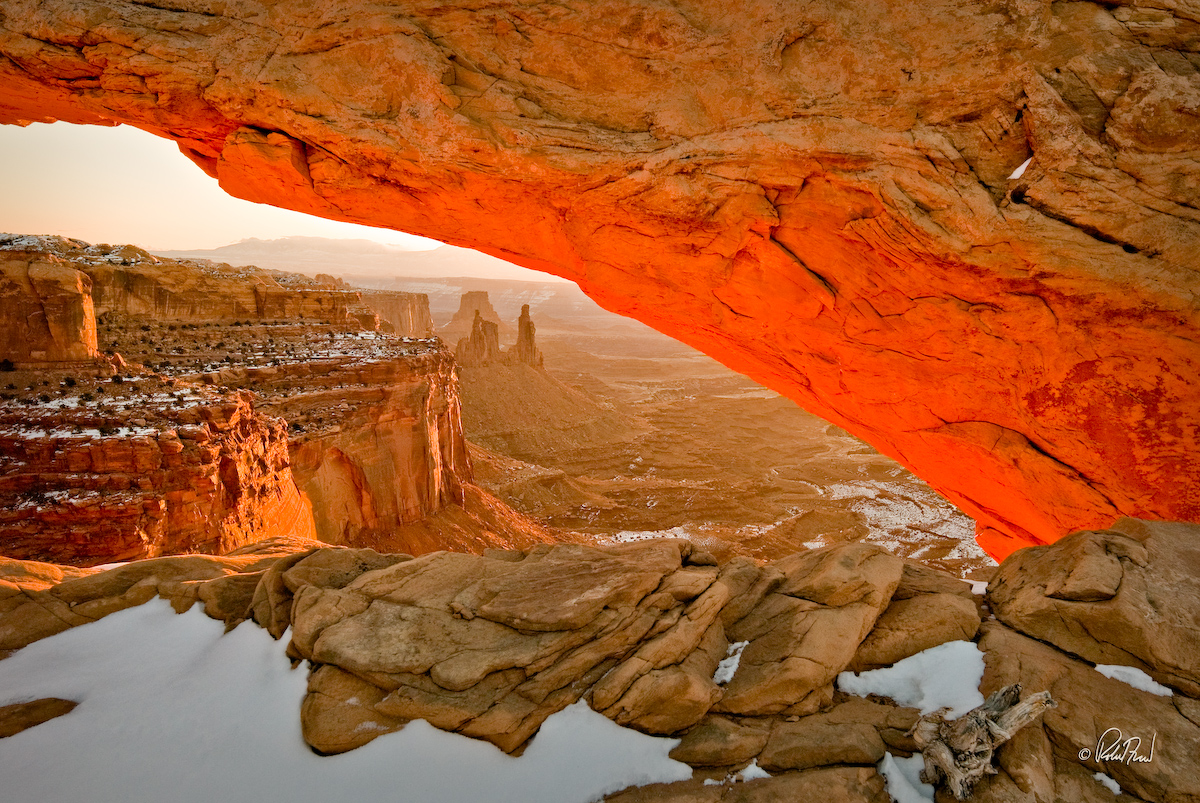 Mesa Arch And Washerwoman by Bob in 2008-02 Moab