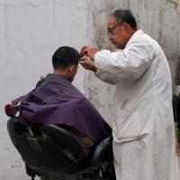 Outdoor Barber Shop by Bob in 2008-04 Vancouver-Shanghai-Beijing-Tokyo