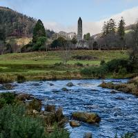 Glendalough from the bridge by Bob
