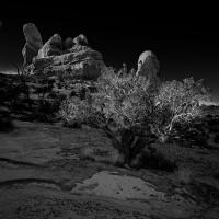 Turret Rock Moonlight Composite by Bob in 2009-01 Moab