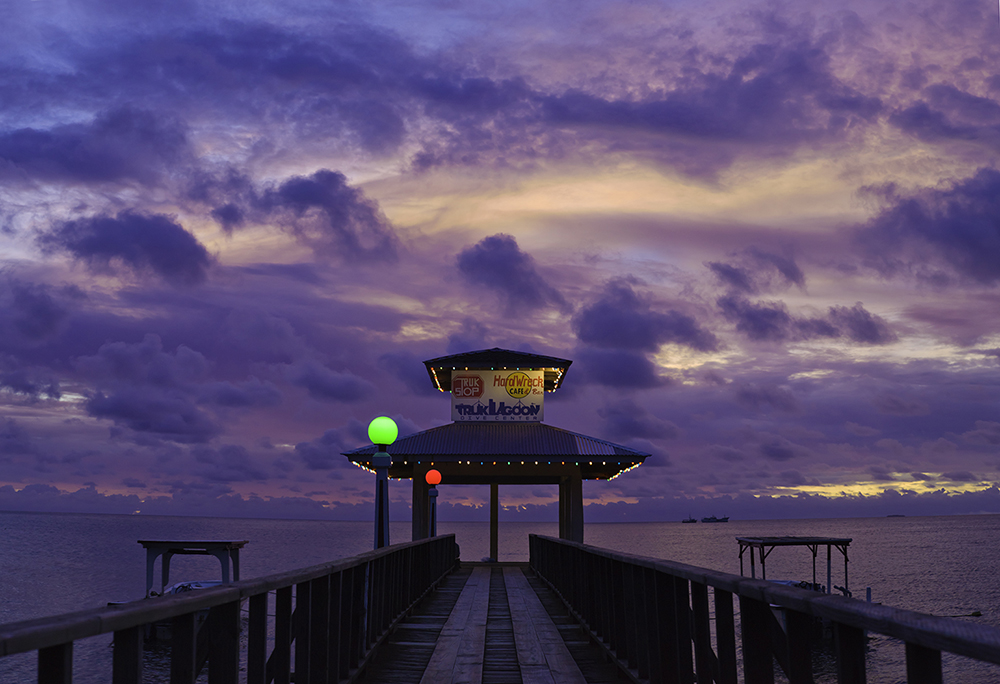 Truk Lagoon Pier Sunset by mjm6 in Regular Member Gallery