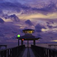 Truk Lagoon Pier Sunset by mjm6