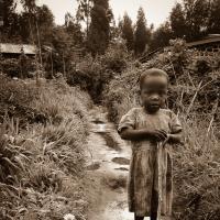 Child In Kinigi Rwanda by baudolino in baudolino