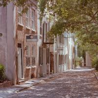 Charleston Cobblestone Street by Cindy Flood in Cindy Flood