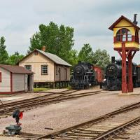 Train Yard by Cindy Flood in Cindy Flood