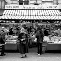 Degaurre St. Fruit Stand B&w by Mark Gowin in Regular Member Gallery